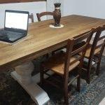 Tavolo legno massiccio cucina salotto scortecciato
