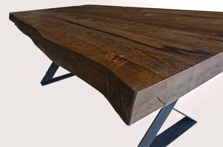 Tavolo legno cucina salotto scortecciato